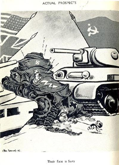 вместе в борьбе с фашизмом СССР США Великобритания с американской газеты
