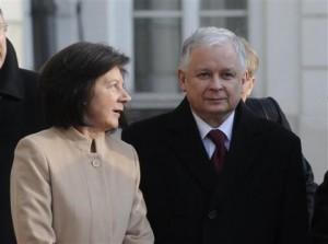March 15, 2010 file photo Polish President Lech Kaczynski